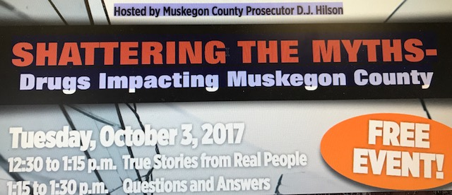 Photo link to HD recording of the panel discussion on drugs impacting Muskegon County